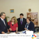 "Admiring the achievements of the Primary School No. 11 ""St. O. Iosif"" Brasov together with the Director,  Dr. Tudorita Albu"