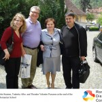 Carol Stanton, John Stanton, Tudorita Albu  and Theodor Valentin Purcarea at the end of the visit to the first Romanian School