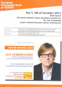 1.European Citizenship Week at NUPSPA. Day 5. November 8, 2013