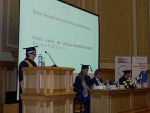 4.Professor Alina BÂRGĂOANU, Rector of NUPSPA, opened the ceremony