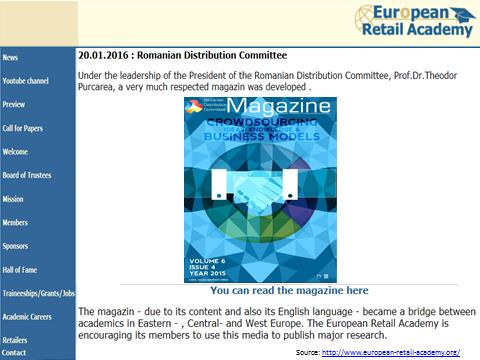 European Retail Academy recommend Romanian Distribution   Committee Magazine